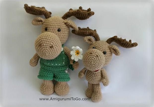 Amigurumi moose