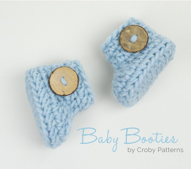 Crochet Baby Booties – Super Fast and Easy! – Free Pattern + Video ...