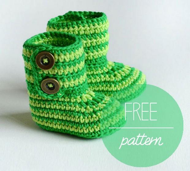 Croche Baby Booties