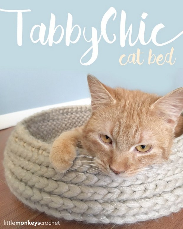 Cat Bed Free Crochet Pattern - Cool Creativities | 775x620