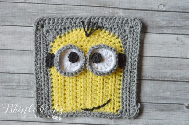 Crochet Minion Afghan Square