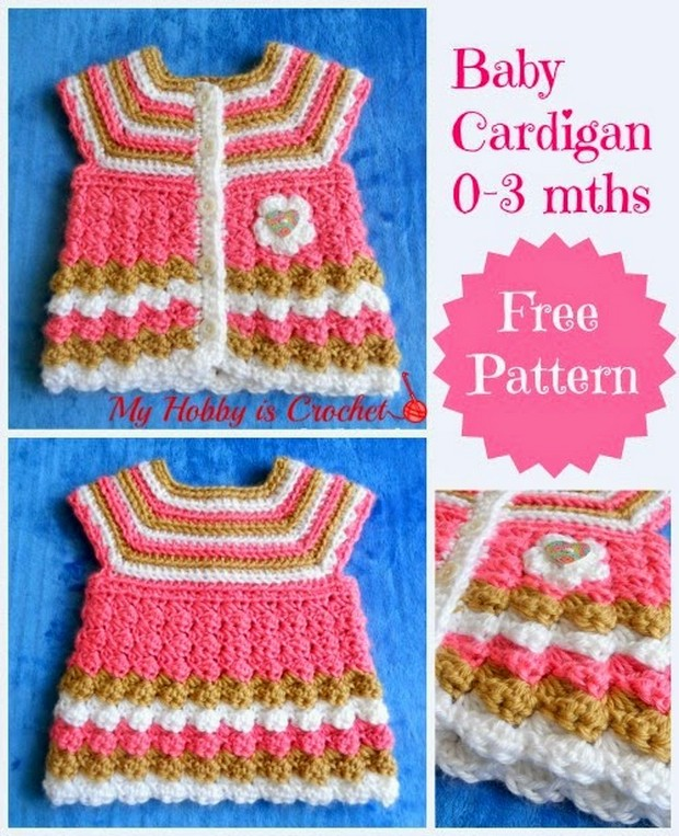 Adorable Crochet Cardigan For Babies Free Pattern