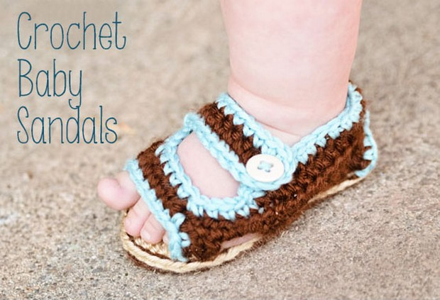 Adorable Crochet Baby Sandals Free Pattern