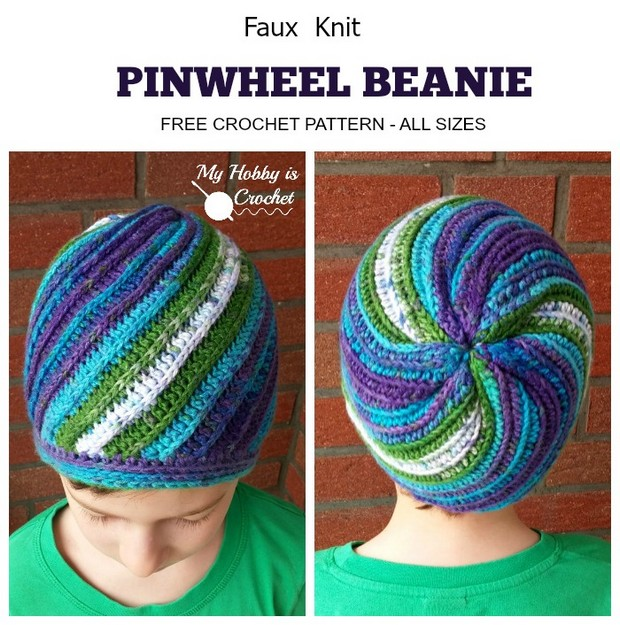 Fantastic Faux Knit Beanie For Babies To Adults Free Crochet Pattern