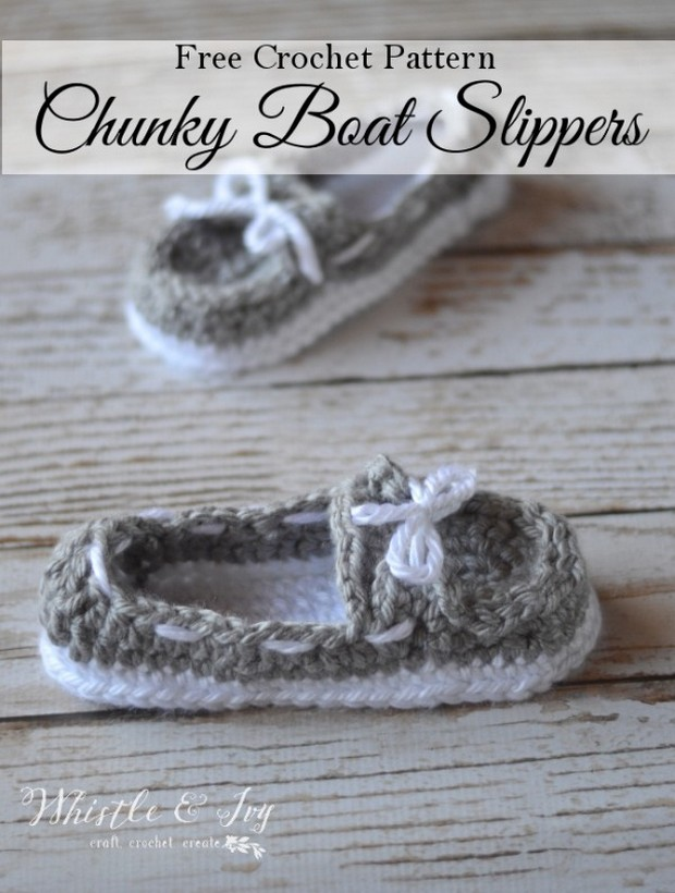 Crochet Boat Slippers