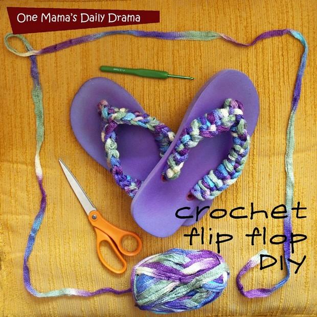 DIY Crochet Flip Flops