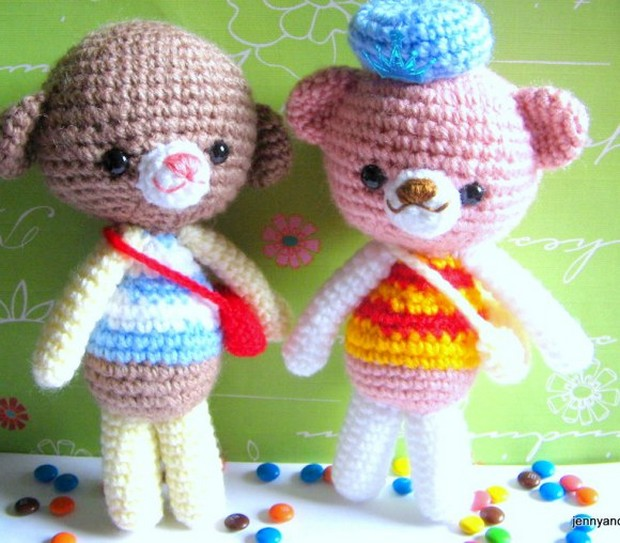 Adorable Amigurumi Teddy Bear And Dog Free Crochet Patterns