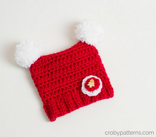 Adorable Crochet Christmas Hat For Babies Free Pattern