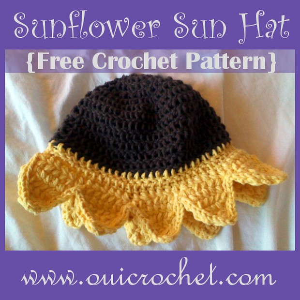 Crochet Sunflower Hat