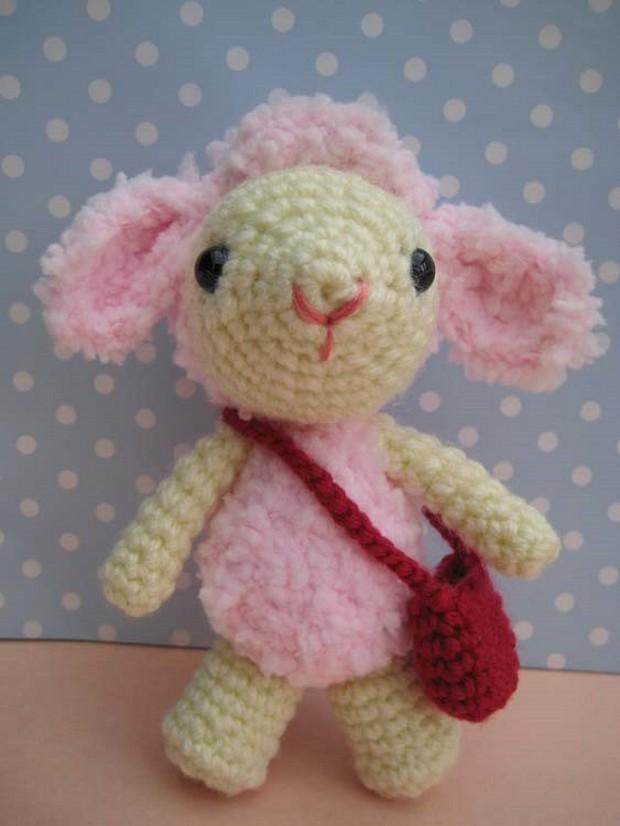 Crochet amigurumi lamb