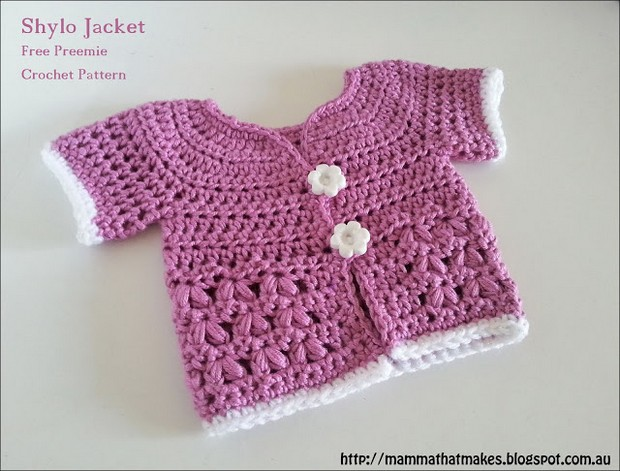 Crochet jacket for babies