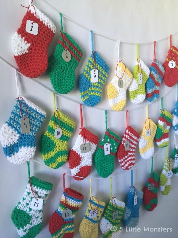 Crochet stocking avent calendar