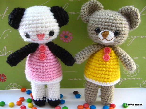 Adorable Amigurumi Teddy Bears Free Crochet Patterns!