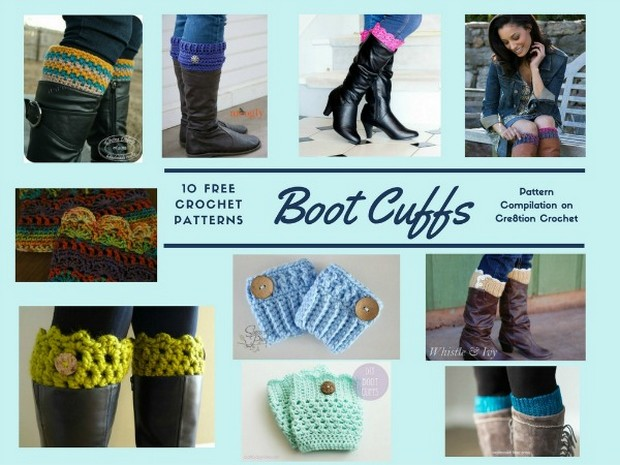 crochet boot cuffs pattern roundup