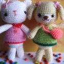 Crochet Bear and Kitten