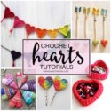 Crochet hearts tutorials roundup
