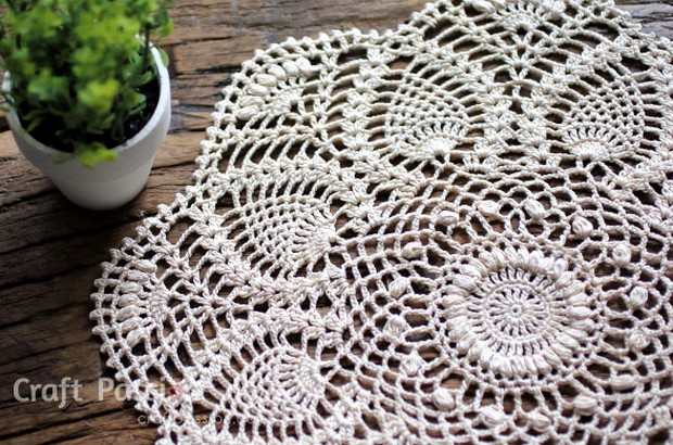Beautiful Vintage Style Crochet Doily Free Pattern