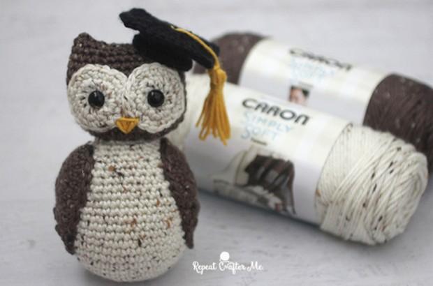 Crochet Owl with graduation cap