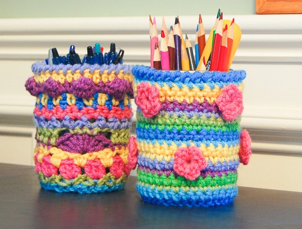 Crochet Mason Jar Cozy