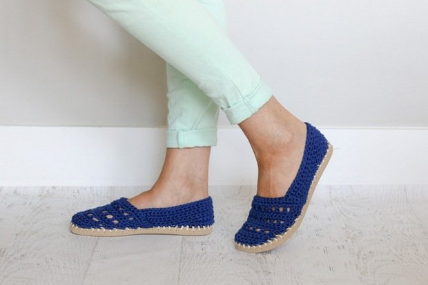 Crochet Slip on Shoes