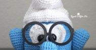 Crochet Smurf Glasses Holder
