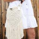Crochet boho bag free pattern