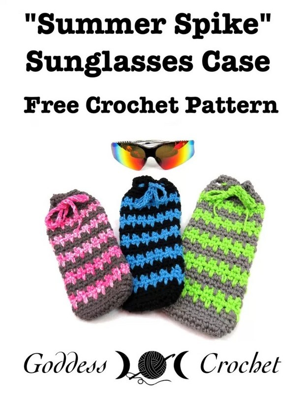 Crochet case for sunglasses