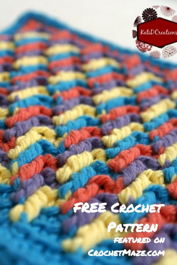 Crochet Apache Tears Washcloth