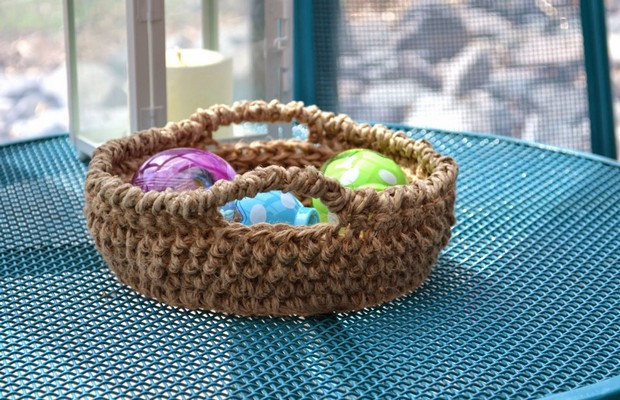 Fantastic Crochet Bowl Made With Jute Free Pattern