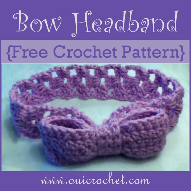 Crochet Headband with Bow