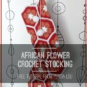 African Flower Crochet Christmas Stocking