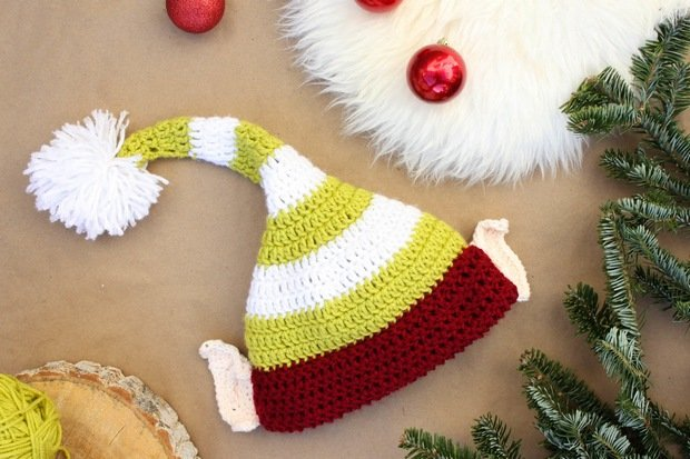 Adorable Crochet Santas Helper Elf Hat For Christmas Free Pattern