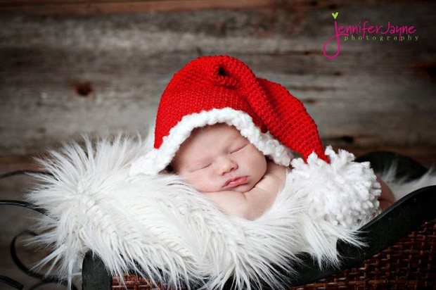 Crochet Santa Hat for Babies