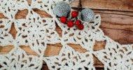 Crochet Snowflake Table Runner