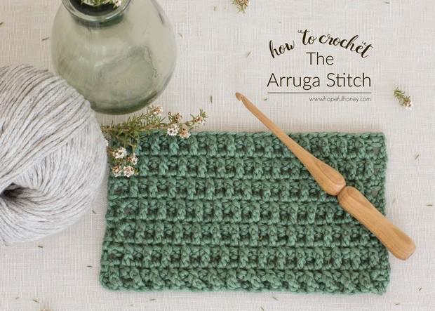 Crochet arruga stitch tutorial