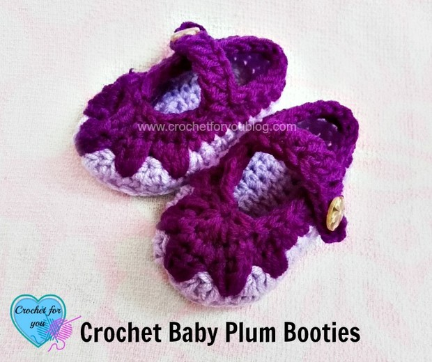 Adorable Mary Jane Style Baby Booties Free Crochet Pattern
