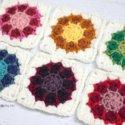 Crochet dahlia square