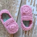 Crochet loafers for babies