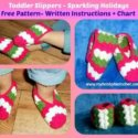 Crochet toddler slippers
