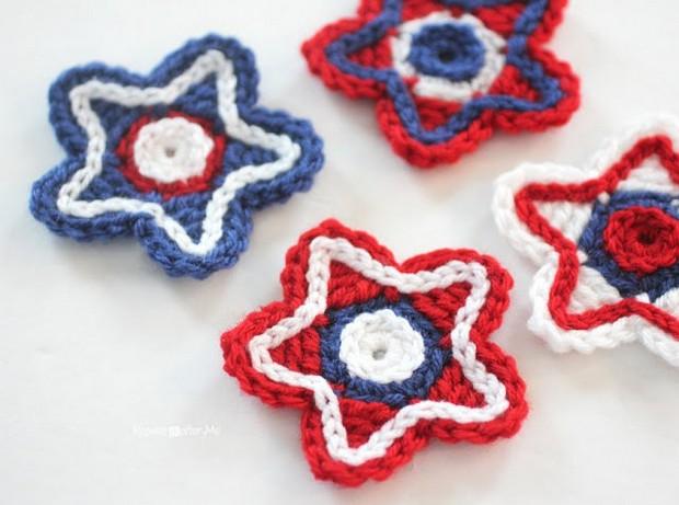 crochet patriotic stars