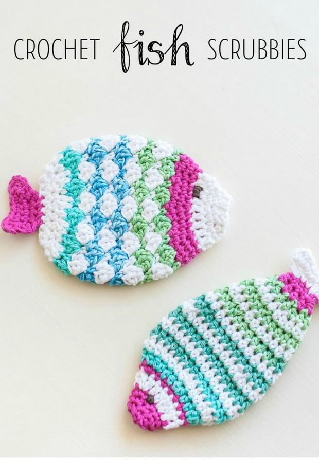 Fabulous Crochet Fish Scrubbie Washcloths Free Pattern And Photo