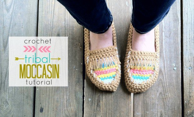 Crochet Moccasins