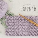 Crochet Modified Sedge Stitch Tutorial