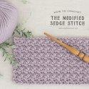 Crochet Modified Sedge Stitch Tutorial