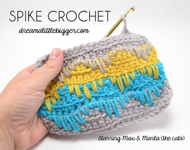 Crochet Spike Stitch Tutorial