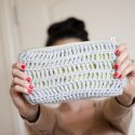 Crochet pouch with zipper