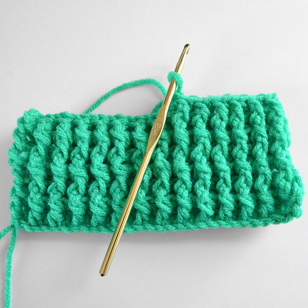Sinngle Rib Crochet Stitch Tutorial