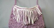 crochet boho style fringe bag