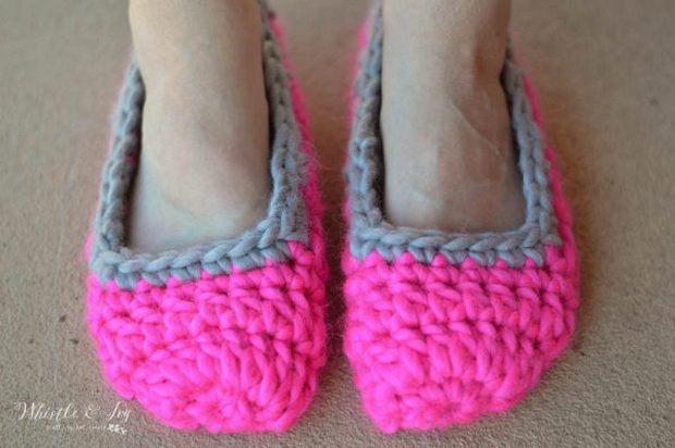 Chunky Crochet Slippers