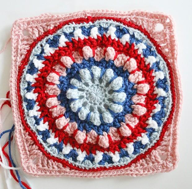 Crochet Dahlia Afghan Square